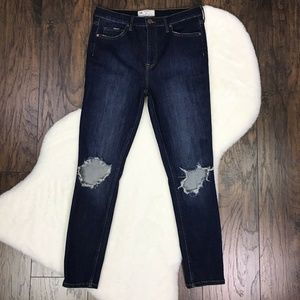 Free People Sz 30 High-Waisted Skinny Jeans Ripped